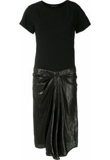 Uma | Raquel Davidowicz Vestido Midi Rose Recortes - Preto