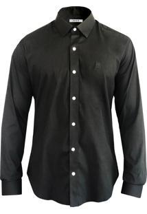 Camisa De Tricoline Com Stretch Joss Preta