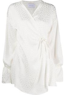 Art Dealer Vestido Envelope Estampado - Branco