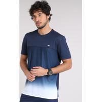 2265b5660d Camiseta Masculina Ace Degradê Manga Curta Gola Careca Azul Marinho