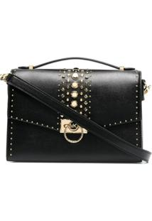 Michael Michael Kors Stud-Embellished Shoulder Bag - Preto