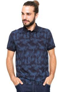 Camisa Polo Aramis Manga Curta Estampada Preta