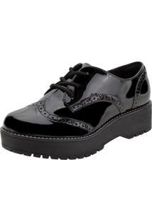 Sapato Feminino Oxford Via Marte - 207307 Verniz/Preto 35