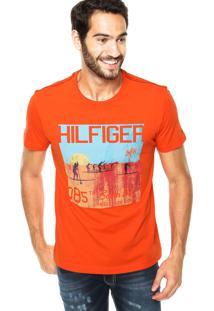 Camiseta Tommy Hilfiger Surf Laranja