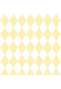 Papel De Parede Lyam Decor Losango Amarelo