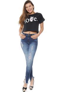 Colete Jeans Sawary Azul Marinho