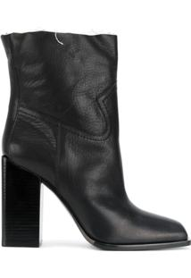 Saint Laurent Ankle Boot 'Jodie 105 Western' - Preto