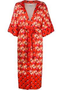 Temperley London Casaco Kimono 'Dragonfly' - Laranja