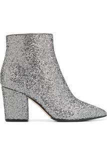 Sergio Rossi Glitter Ankle Boots - Cinza