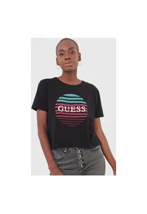 Camiseta Guess Sunset 3 Colors Preta