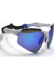 Óculos De Sol Jf Sun Bold-Branco-Azul Espelhado