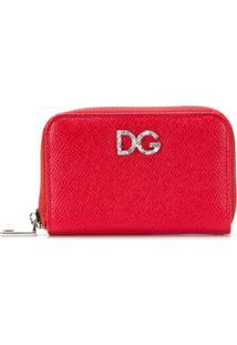 Dolce & Gabbana Carteira Pequena De Couro Com Zíper - Vermelho