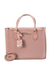 Bolsa Handbag D'Flora Alça Dupla Feminina Estilo Elegancia Rosa