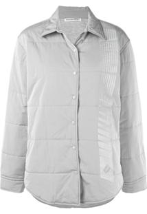 T By Alexander Wang Quilted Straight Jacket - Cinza