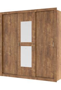 Roupeiro Vivacce 3 Portas De Correr C/ Espelho Native Móveis Carraro