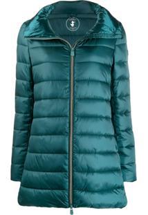 Save The Duck Padded Zip-Front Coat - Verde