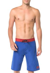 Bermuda D'Água Calvin Klein Swimwear Básica Calvin Azul Carbono - P