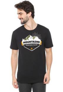 Camiseta Talismã Store De Algodão Eco Canyon Mountains Masculina - Masculino-Preto