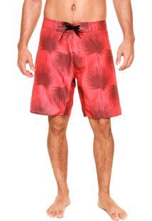 Bermuda Água Fiveblu On Tone Palms Vermelha