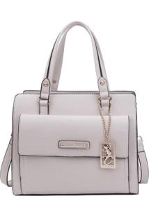Bolsa Com Bag Charm & Tag- Off White- 24X28X14Cmfellipe Krein