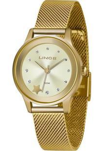 Kit Relógio Feminino Lince Lrgh122L-Kw99C1Kx Analógico 5Atm + Pulseira