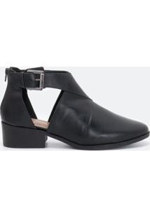 Sapato Feminino Abotinado Satinato
