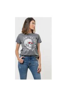 Camiseta Jay Jay Básica New York Ls Chumbo
