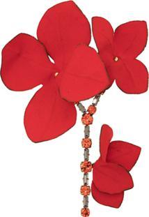 Marni Broche Floral - Vermelho