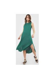 Vestido Osklen Midi Tricot Knit Verde