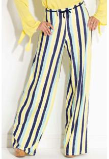 38b05ccc5 Calça Pantalona Quintess Listrada