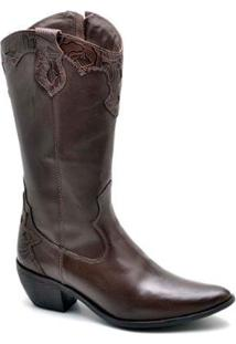 Bota Top Franca Shoes Country Feminino - Feminino-Café