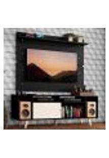 Rack Madesa Cancun Com Pés E Painel Para Tv Até 65 Polegadas - Preto/Branco 7777
