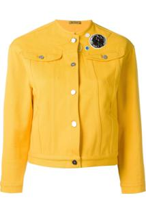 Peter Jensen Collarless Denim Jacket - Amarelo