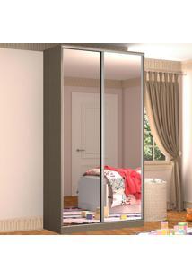 Guarda-Roupa Solteiro 2 Portas Correr 2 Espelhos 100% Mdf Rc2005 Ocre - Nova Mobile