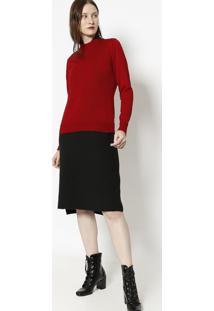 Blusa Lisa Em Tricã´- Vermelha- Ponto Aguiarponto Aguiar