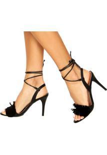 Sandália Franja Amarração Dafiti Shoes