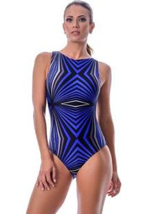 Maiô Summer Soul Body Sem Bojo - Feminino-Azul+Preto