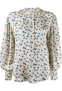 Chloé Blusa Estampada Com Abotoamento - Neutro