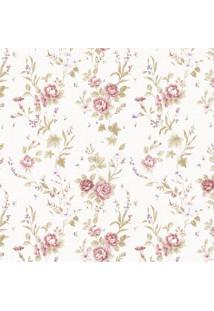Papel De Parede Stickdecor Adesivo Floral Vintage 100Cm L X 300Cm A - Rosa - Dafiti