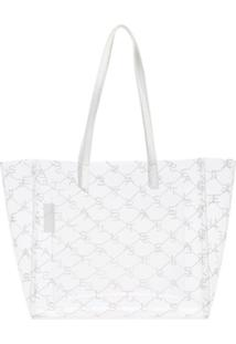 Stella Mccartney Bolsa Tote Com Logo Estampado - Branco
