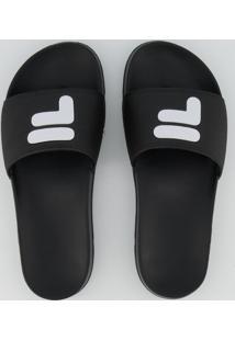 Chinelo Fila F-Slider 2.0 Feminino Preto E Branco