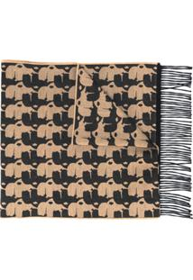 Karl Lagerfeld Echarpe Com Estampa Gráfica - Preto