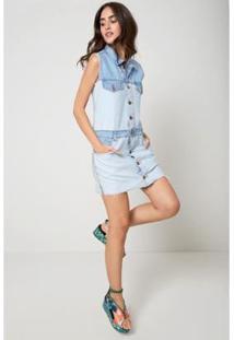 Vestido Jeans Oh, Boy! Direito Avesso - Feminino-Azul