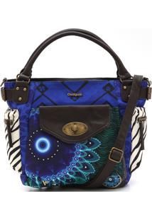 Bolsa Desigual Estampada Azul