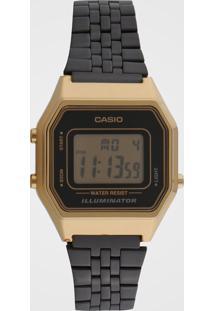 Relógio Casio La680Wegb-1Adf Dourado/Azul - Kanui