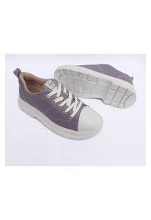 Tenis Via Marte Feminino Sneaker Chunky Slip On Sapatenis 1027 Roxo