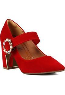 Sapato De Salto Scarpin Feminino Bebecê Vermelho