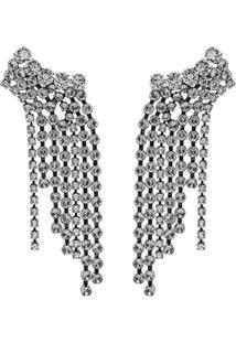 Isabel Marant Crystal Drop Chandelier Earrings - Metálico