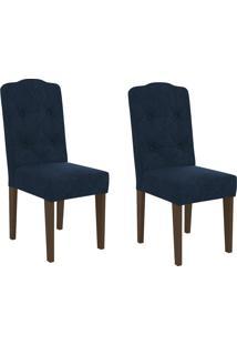 Cadeiras Kit 2 Cadeiras Cad118 Azul Marinho - Kappesberg