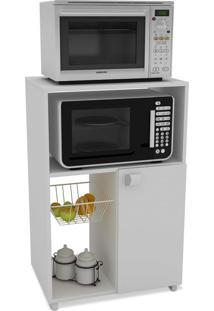 Armário Para Micro-Ondas Alzir Com Fruteira 1 Pt Branco